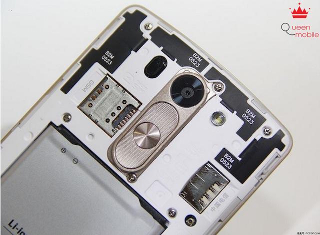 Mặt sau của LG G3 Beat
