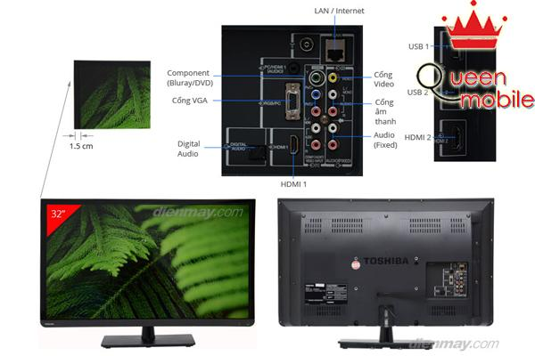 Đánh giá Smart Tivi Led Toshiba 32L3300