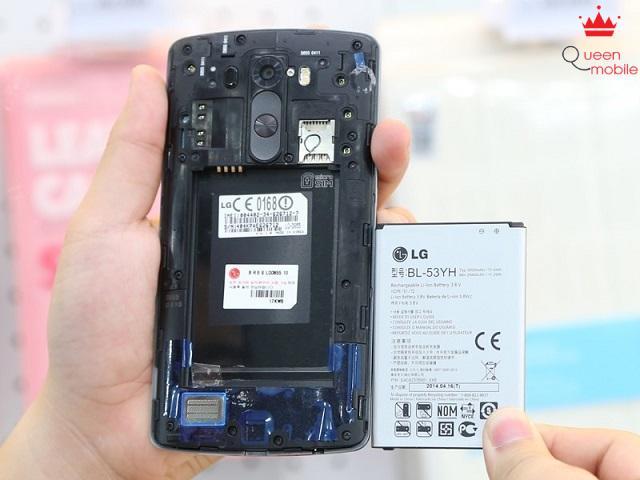 Pin của LG G3 có thể tháo rời