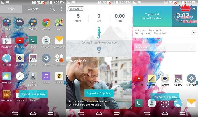 Giao diện phẳng Flat UI trên LG G3