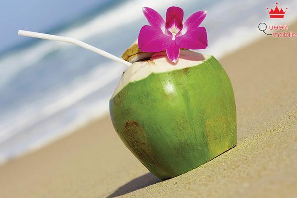 Nước dừa có tác dụng tốt cho việc trao đổi chất