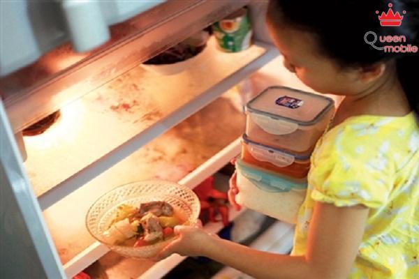 Bảo quản thức ăn thừa trong tủ lạnh