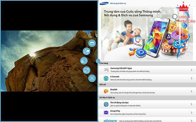 Chế độ đa đa màn hình trên Samsung Galaxy Tab S