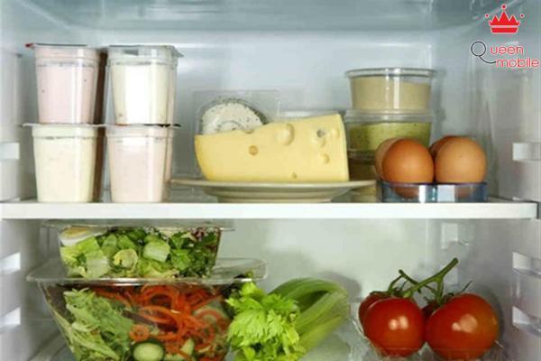 Trữ nhiều thức ăn tốt trong tủ lạnh