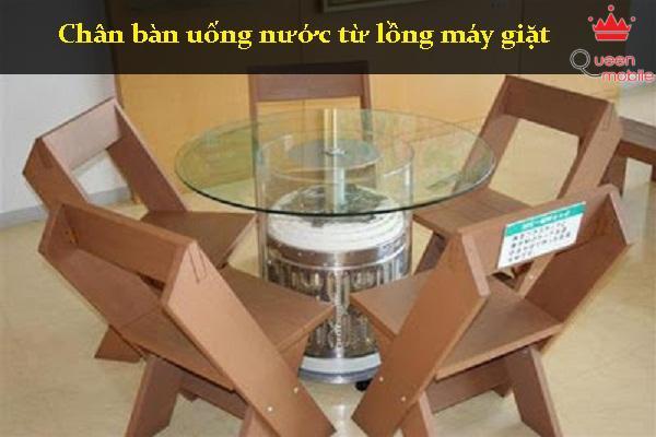 Chân bàn làm từ lồng máy giặt