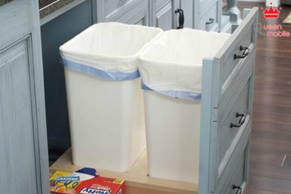 """Giấu rác trong ngăn tủ bằng """"thùng rác âm"""""""