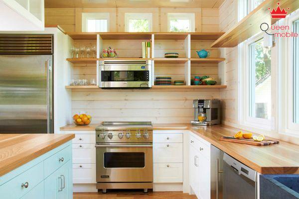 Sử dụng tấm chắn tường để trang trí căn bếp