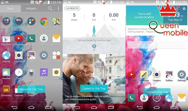 Giao diện Flat UI trên LG G3