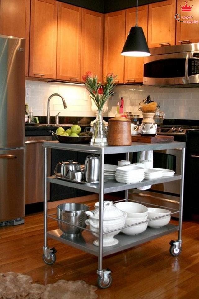 Chọn một chỗ cho các vật linh tinh trong gian bếp