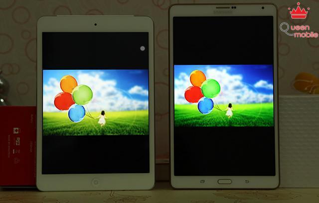 Màn hình của Galaxy Tab S hiển thị màu sắc rực hơn so với iPad