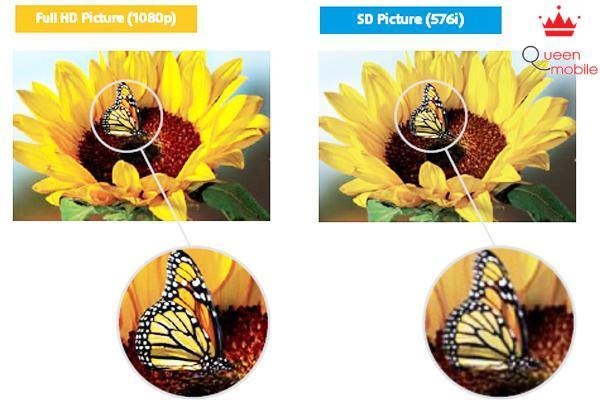 Độ phân giải Full HD cho hình ảnh rõ nét