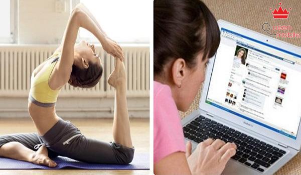 Tập yoga 30 phút mỗi ngày thay vì dùng facebook sẽ giúp cơ thể khỏe hơn