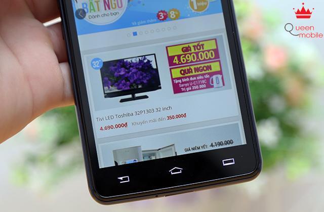 Phía dưới màn hình là 3 phím đặc trưng của Android