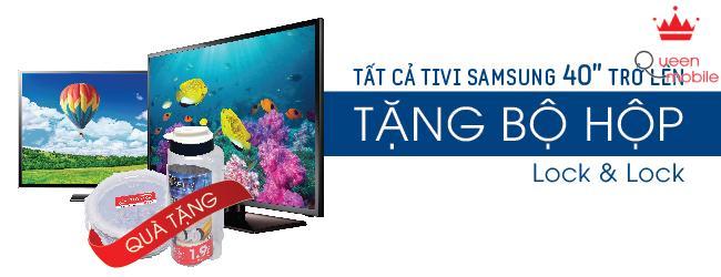 Tặng ngay bộ quà 500.000 cho tất cả tivi Samsung trên 40 inch