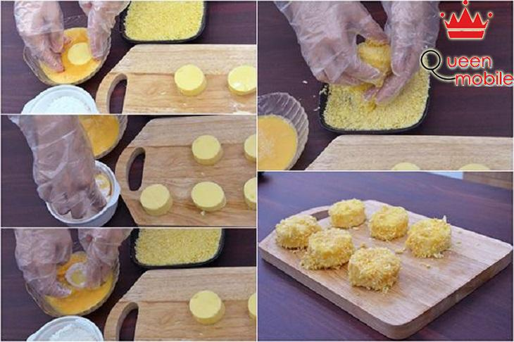 Cách làm đậu hũ trứng chiên xù mà không bị nát