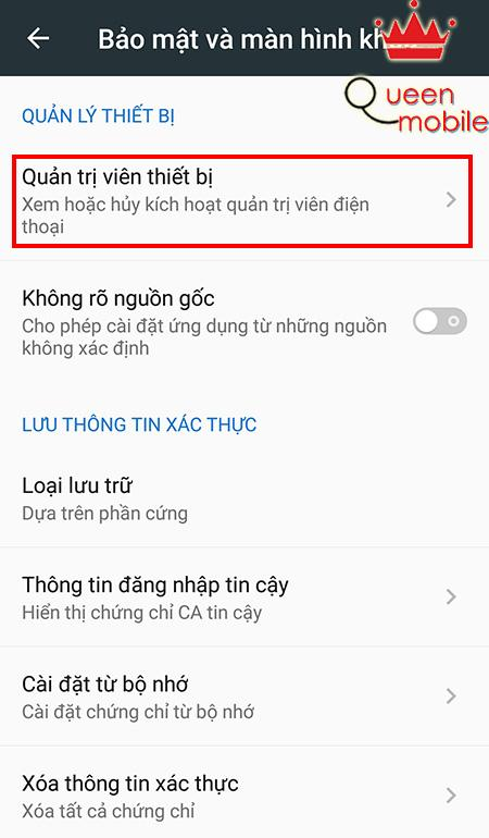 Các gỡ mã độc, virus trên thiết bị Android + Bước 4