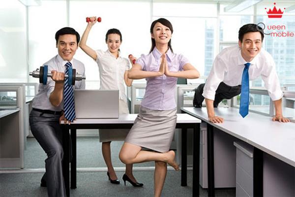 Vận động 15 phút ở văn phòng thay vì ngồi ì một chỗ