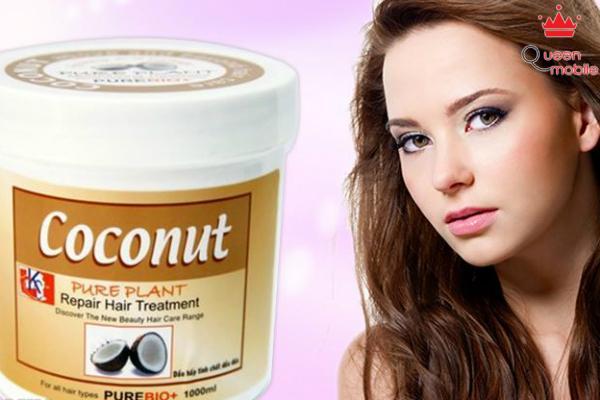 Dầu dừa dưỡng ẩm cho tóc