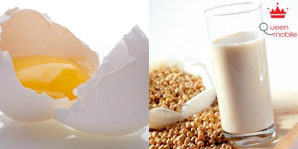 Ăn trứng gà và uống sữa đậu nành gây khó tiêu, đầy bụng