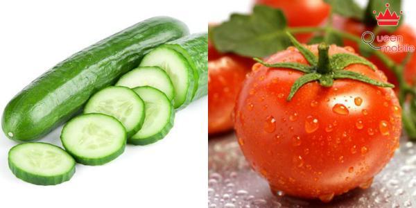 Lượng dinh dưỡng trong cà chua và dưa leo sẽ bị giảm đi đáng kể nếu ăn cùng nhau