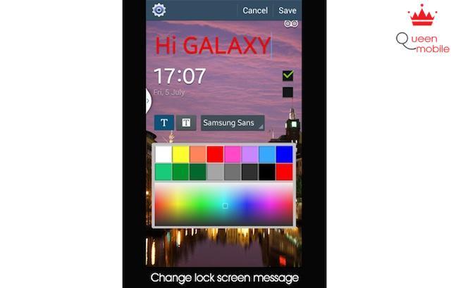 Thay đổi tin nhắn trên màn hình khóa