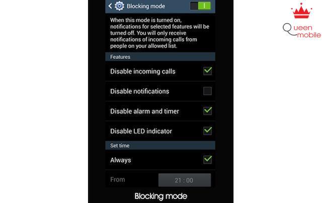 Blocking mode