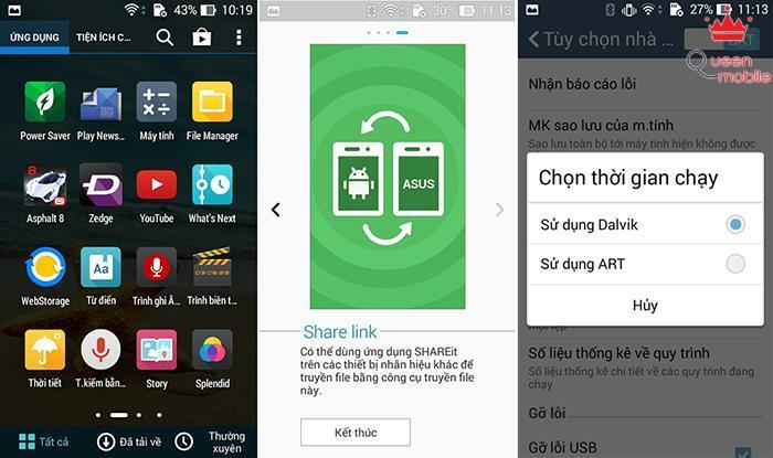 Giao diện ZenUI trên nền Android 4.4 ổn định và mượt hơn