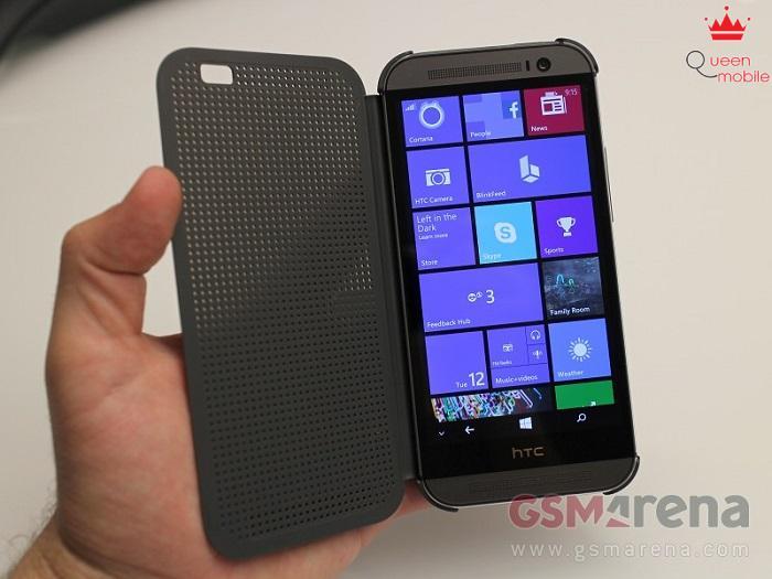 Case DotView trên HTC One M8 phiên bản Windows Phone
