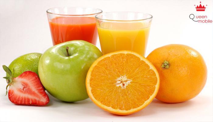 Các chất oxy hóa phong phú trong nước hoa quả giúp bạn dễ lên cân
