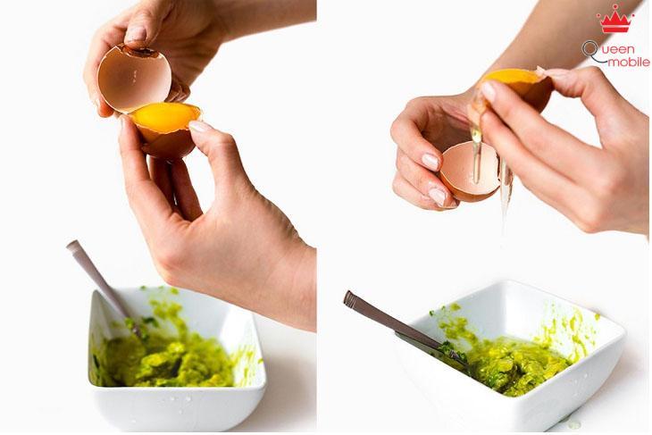 Mặt nạ hỗn hợp bơ, dưa leo và trứng gà