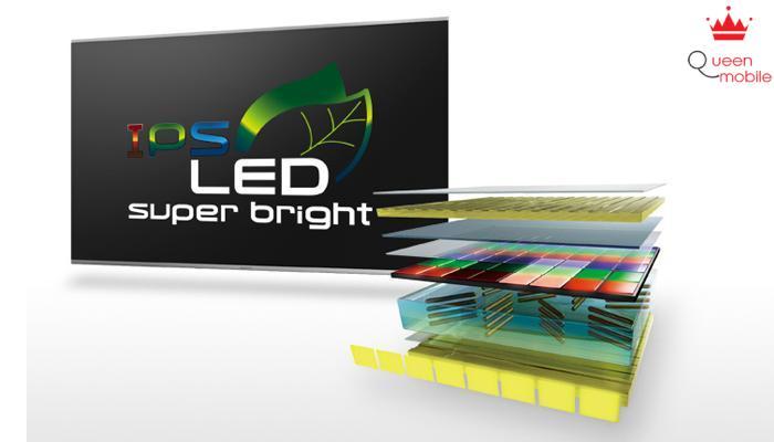 Tivi trang bị màn hình LED IPS tăng khả năng chiếu sáng lến 15%