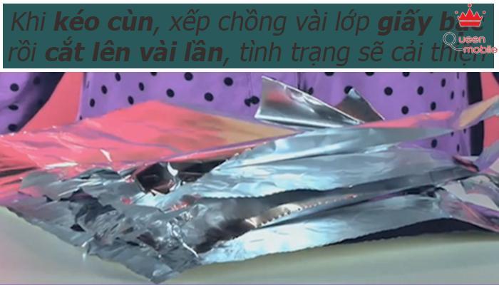 Kéo cùn có thể dùng giấy bạc để cải thiện tình trạng