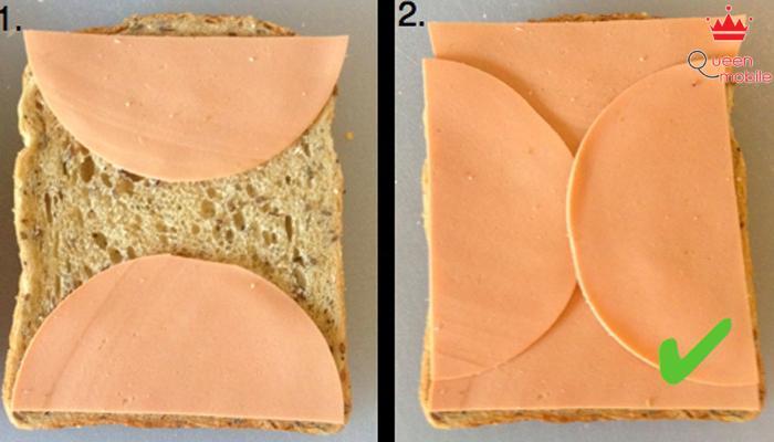 Nếu biết cách sắp thì món bánh sandwich sẽ thật ngon tuyệt