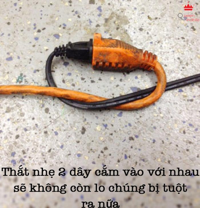 Một cách đơn giản để dây điện không tuột ra