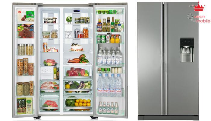 Tủ lạnh cực rộng có sức chứa phục vụ cho cả gia đình thoải mái