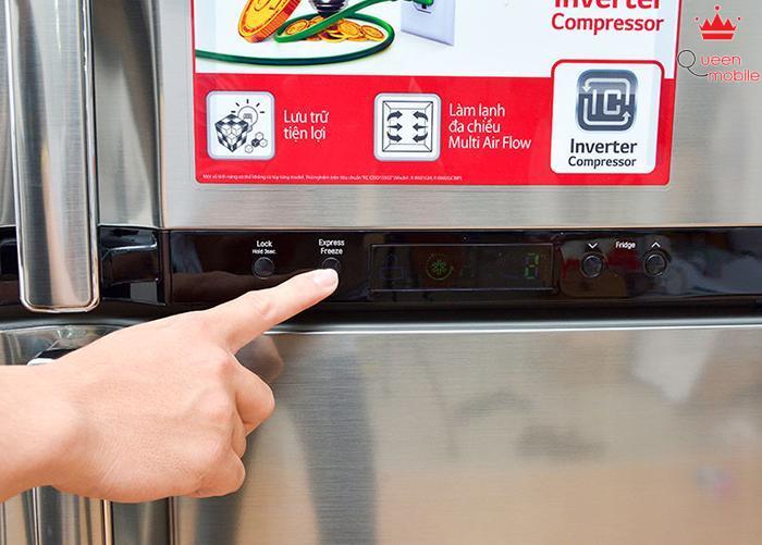 Nút Express Freeze giúp cấp đông nhanh