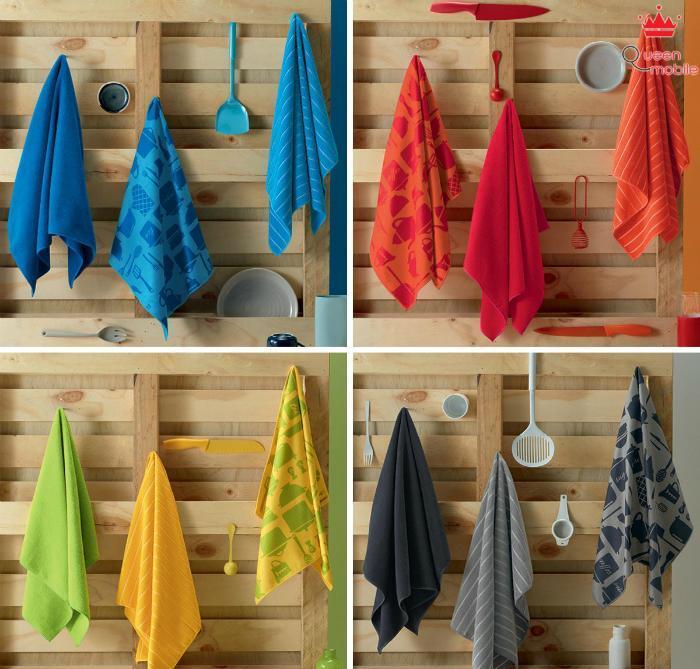 Chọn khăn lau bát dĩa có màu vải ưa nhìn sẽ tô điểm thêm cho căn bếp