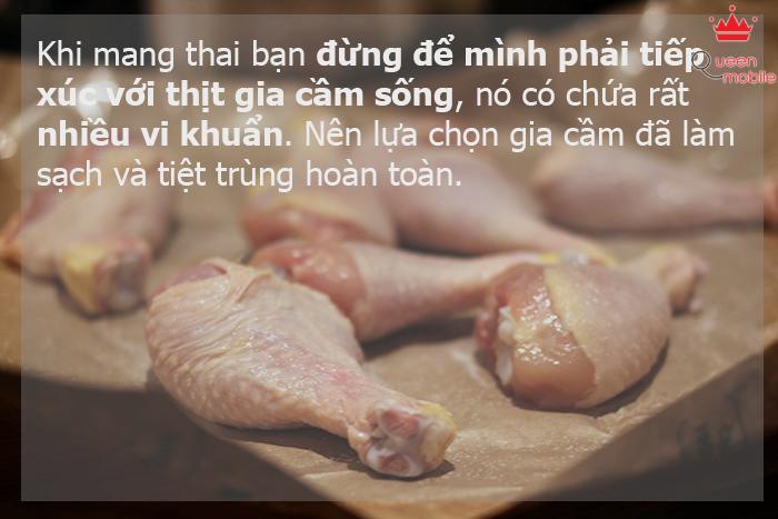 Thịt gia cầm sống
