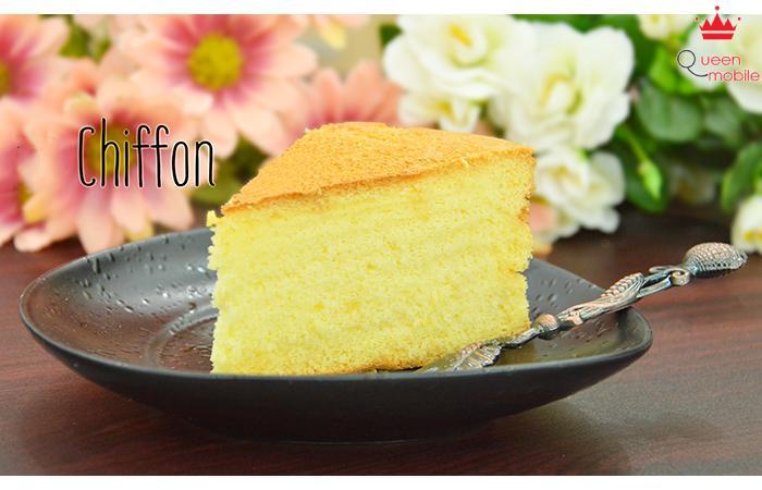 Bông xốp, mềm mịn với bánh Chiffon tự làm
