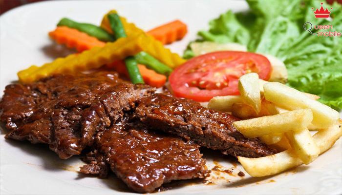 Thịt bò và khoai tây hiệu quả trong làm hồng da mặt