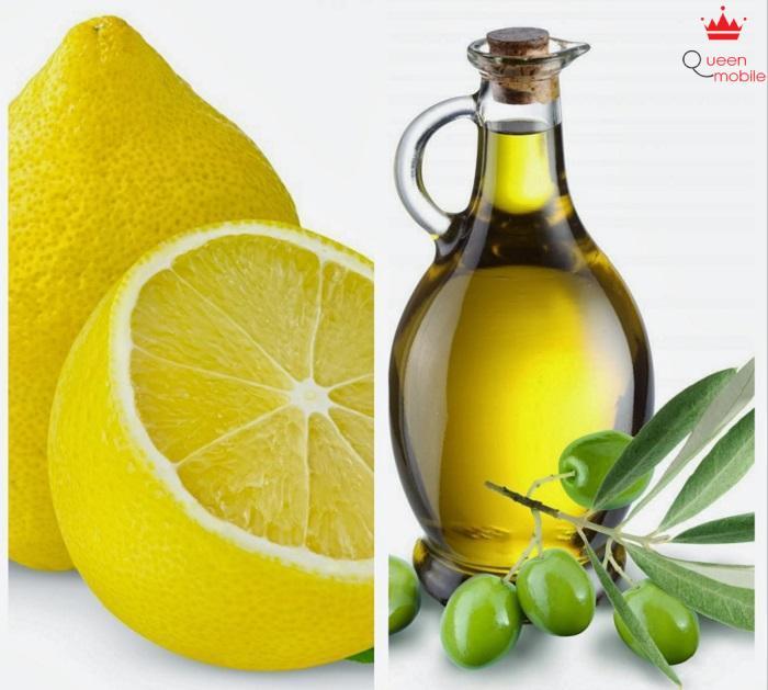 Hỗn hợp chanh và dầu ôliu trị môi thâm hiệu quả