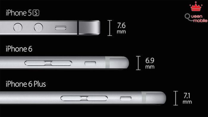 iPhone 6 và iPhone 6 Plus là hai chiếc điện thoại mỏng nhất của Apple từ trước tới nay