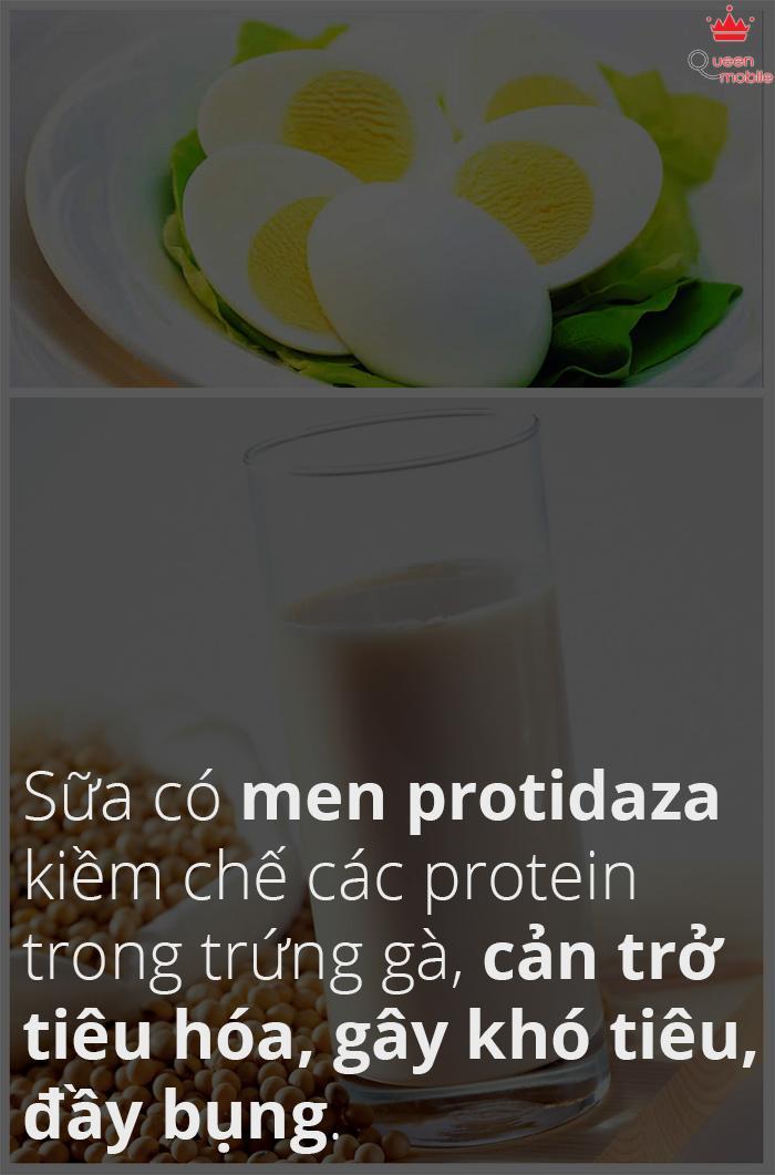 Sữa đậu nành và trứng gà