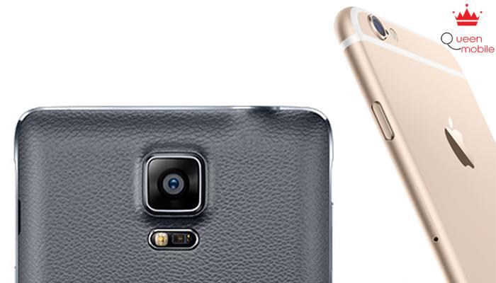 Samsung Galaxy Note 4 tỏ ra vượt trội hơn về camera so với Apple iPhone 6 Plus