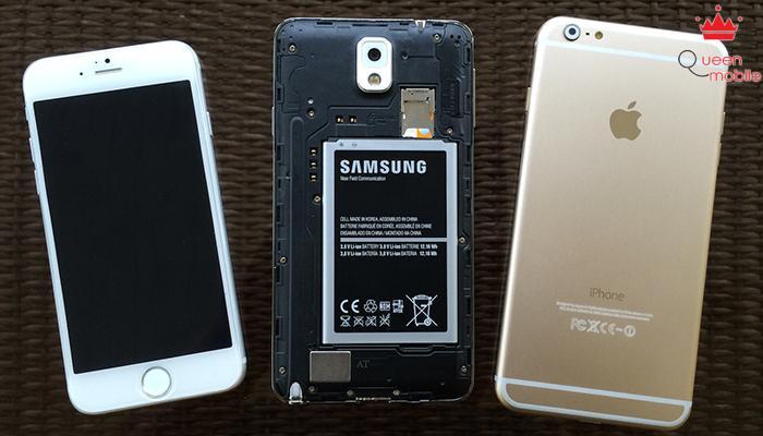 Samsung Galaxy Note 4 có thể thay pin khi cần thiết.