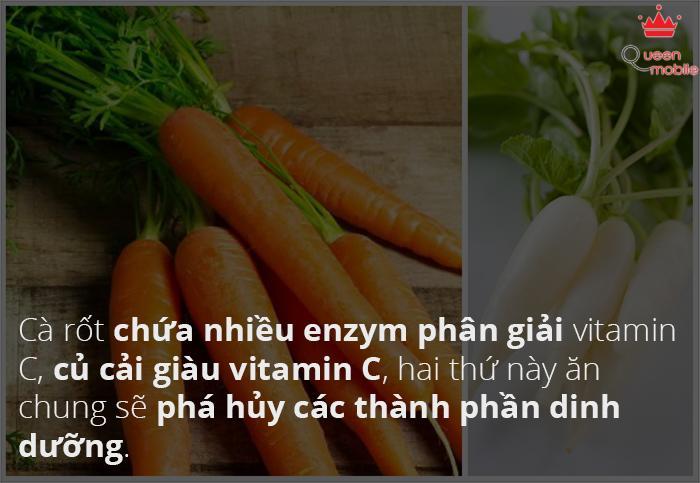 Cà rốt kỵ củ cải