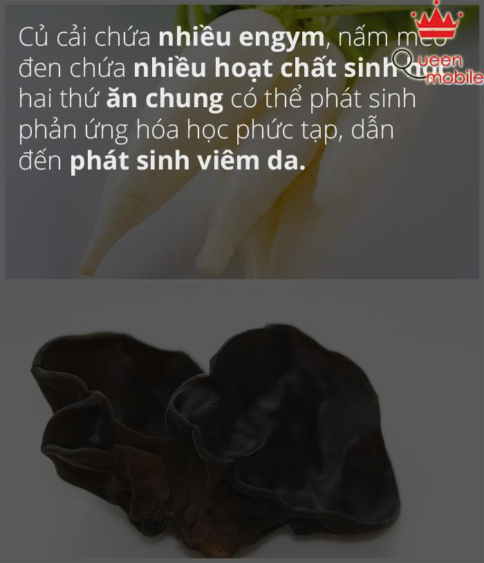 Củ cải kỵ nấm mèo đen