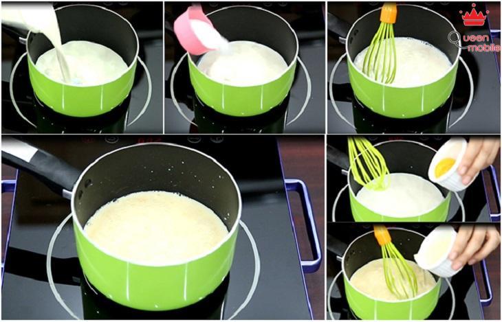 Cách làm pudding xoài