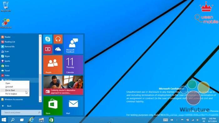 Cho phép mang ứng dụng lên giao diện Live Tiles thu nhỏ