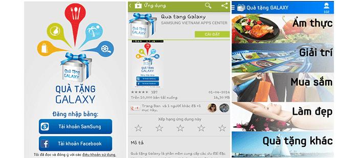 Hướng dẫn tải app galaxy gift của samsung